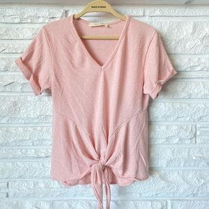 Jolie NEW Short Sleeve Knit Top Tie Knot Front